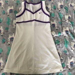 NWOT Nike tennis dress with purple detail